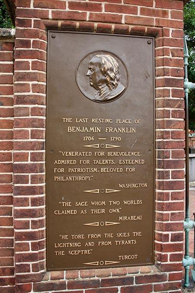 Benjamin Franklin grave